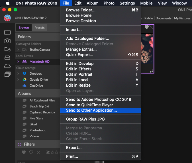 Where do I Launch External Editors/Plugins Inside of ON1 Photo RAW